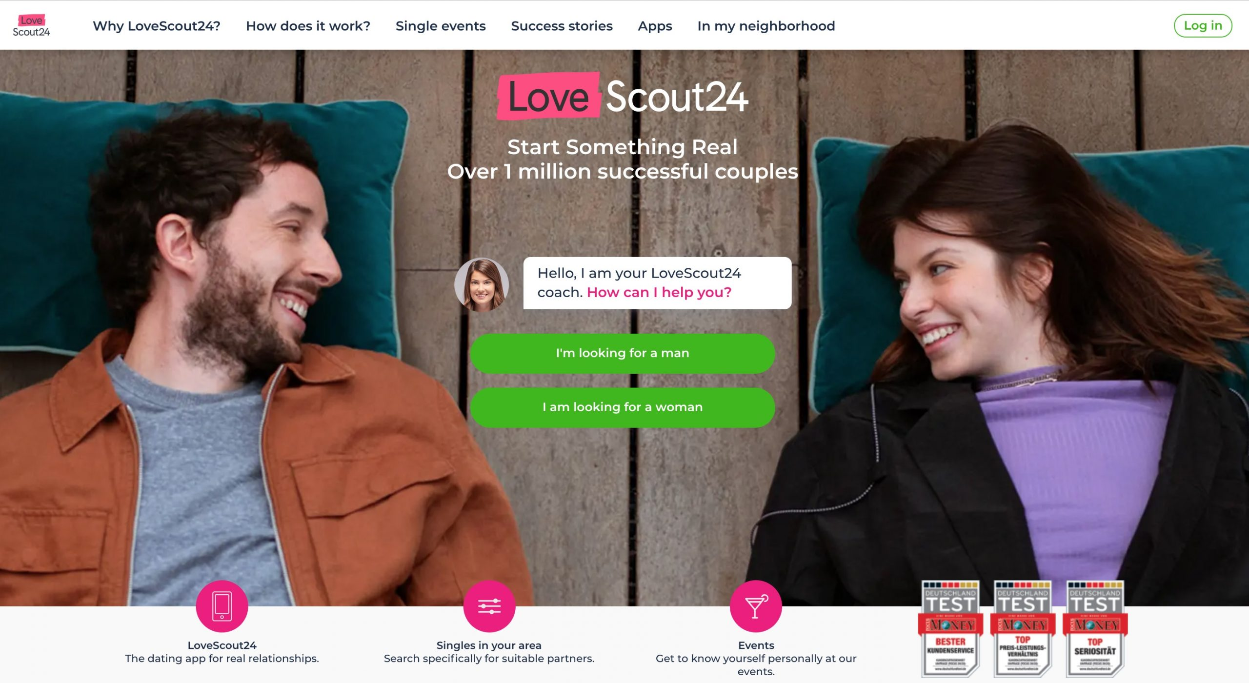 LoveScout24 main page