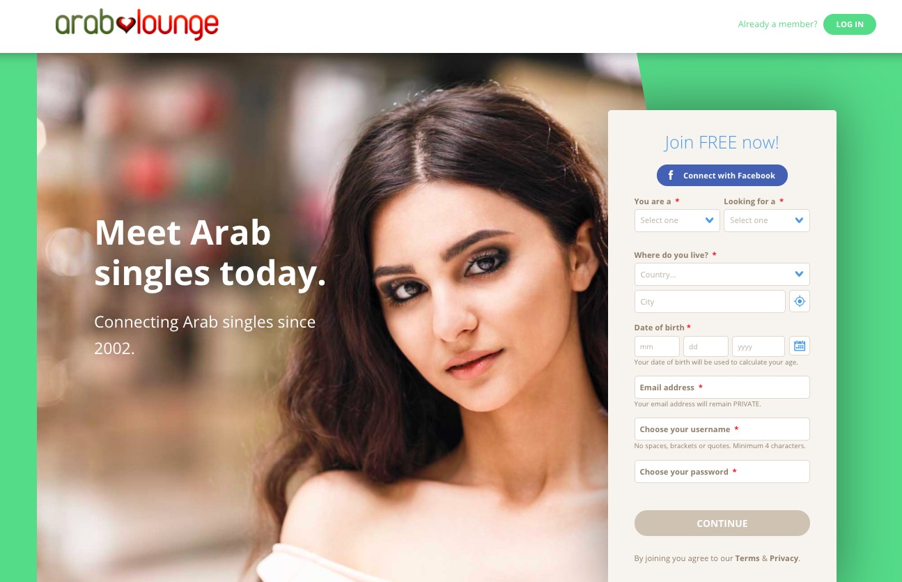 Arab Lounge main page